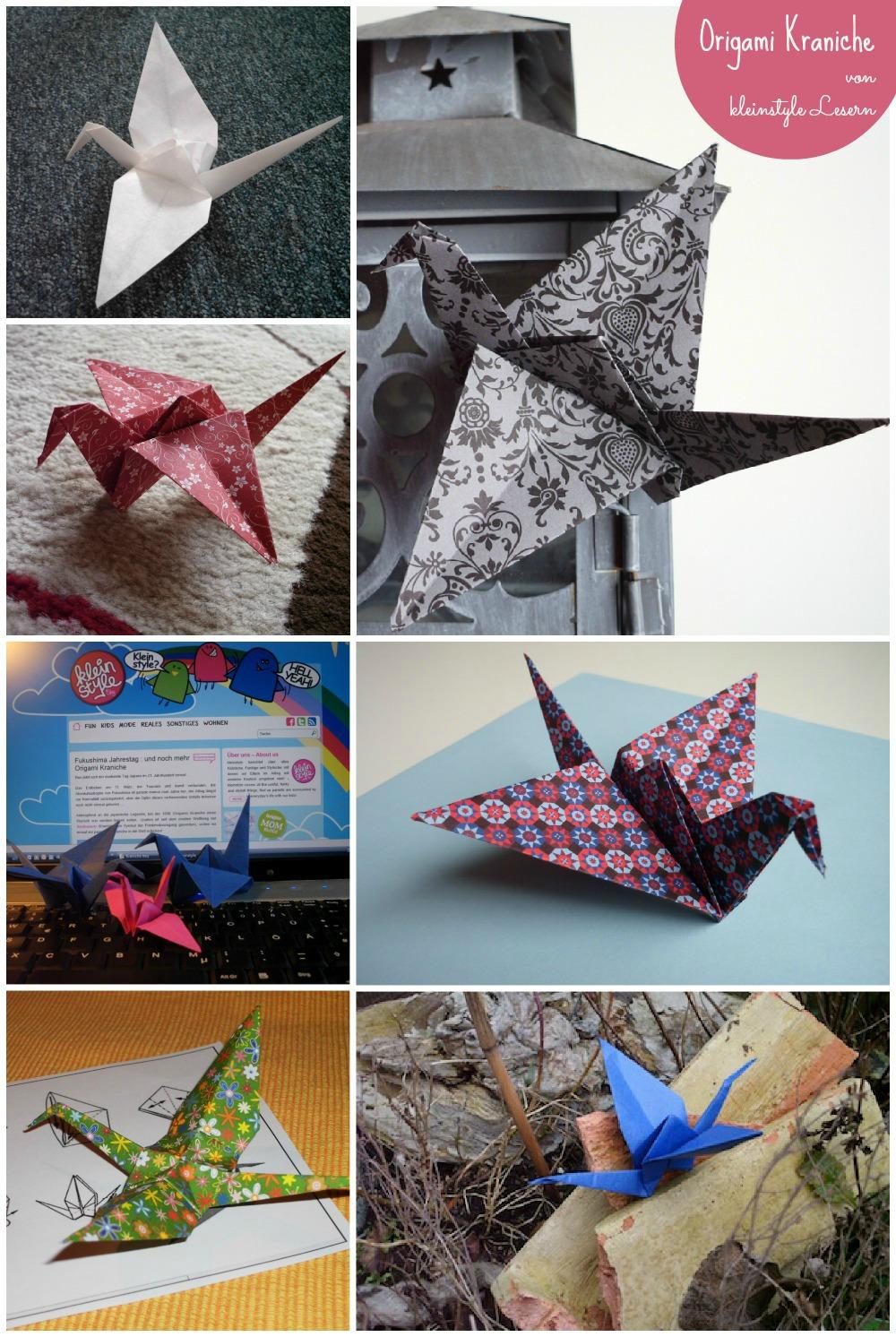 origami Kranich Jahrestag Fukushima Japan kleinstyle Leser Bilder einsendungen