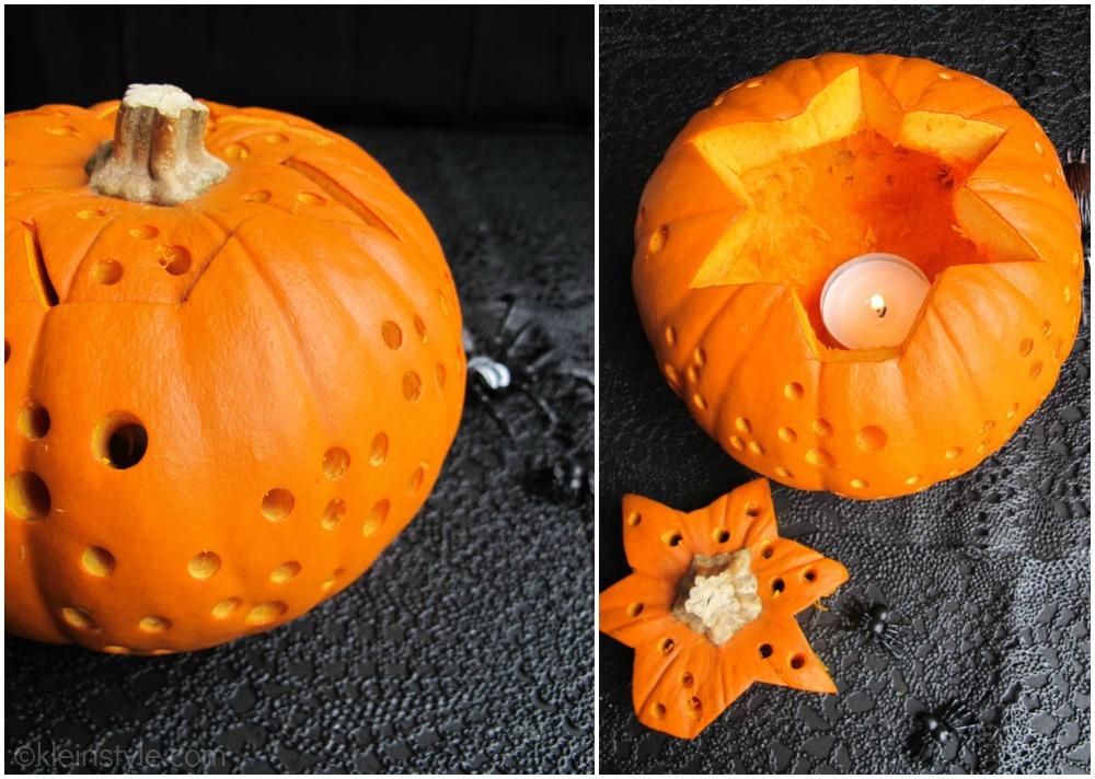halloween pumpkin decoration by kleinstyle.com collage