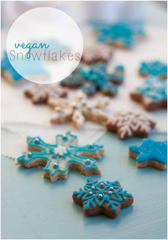 xmas vegan snowflake cookies by kleinstyle.com main