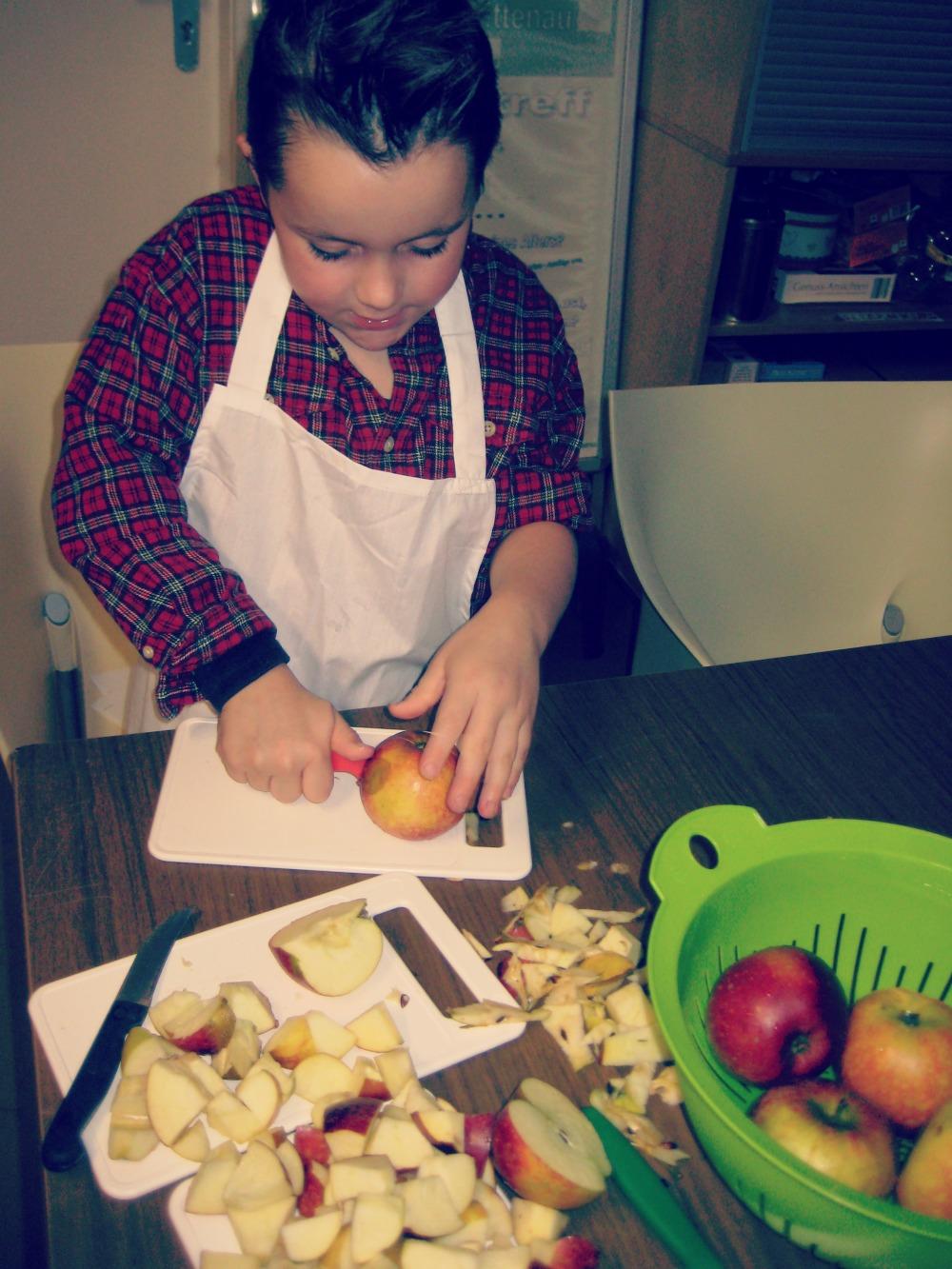 kleinstyle kocht im familientreff kochen apfel