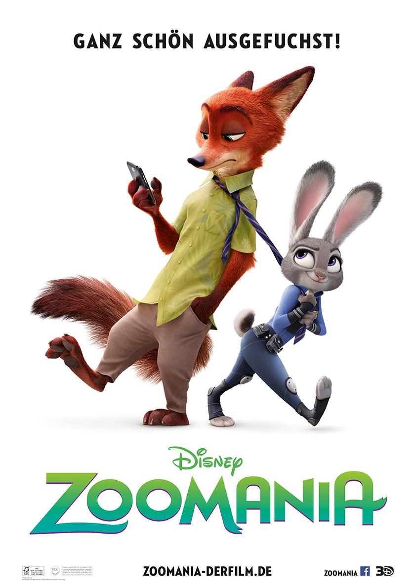 Walt Disney Zoomania Kino Film Plakat