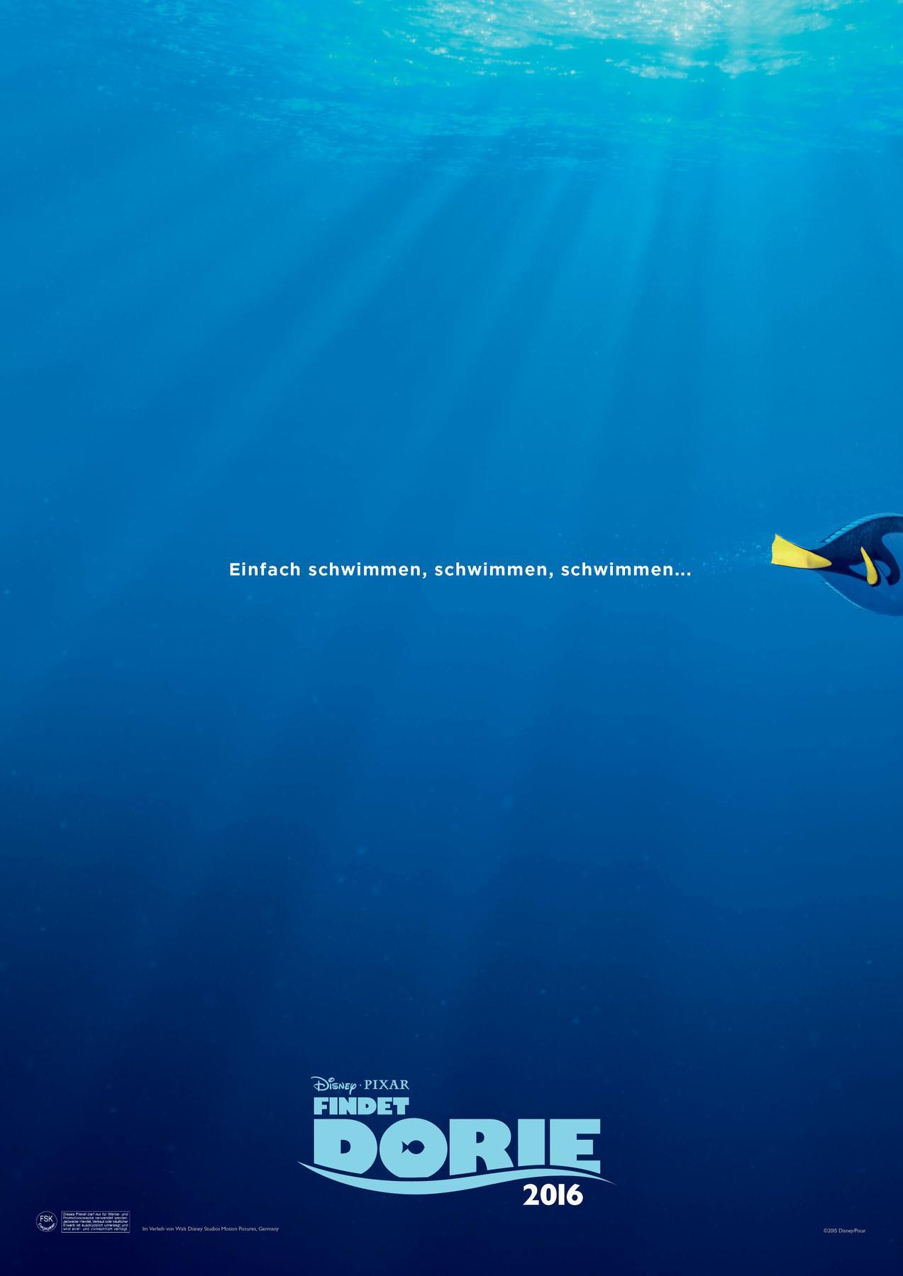 Walt Disney Findet Dorie Film Plakat teaser