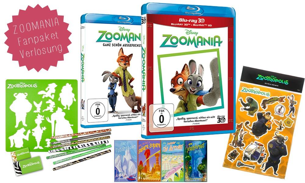 Disney ZOOMANIA-GIVE-AWAY Gewinnspiel Bluray 3D