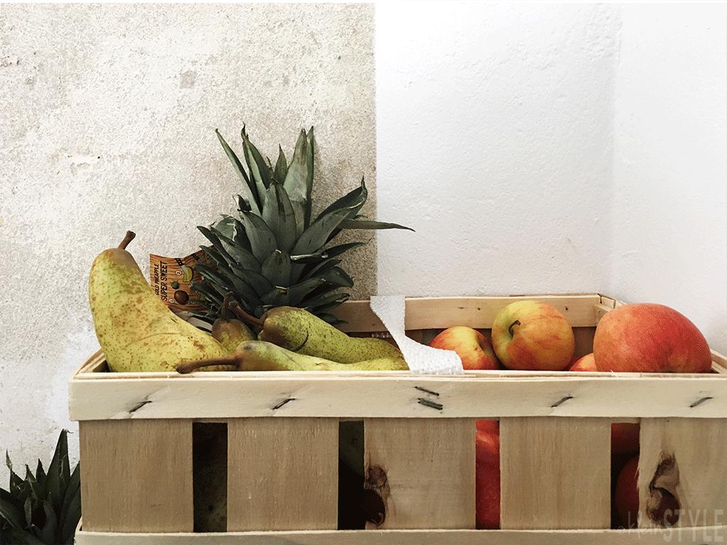 Big Juice Clean up Obstkiste Neujahrs- Vorsätze