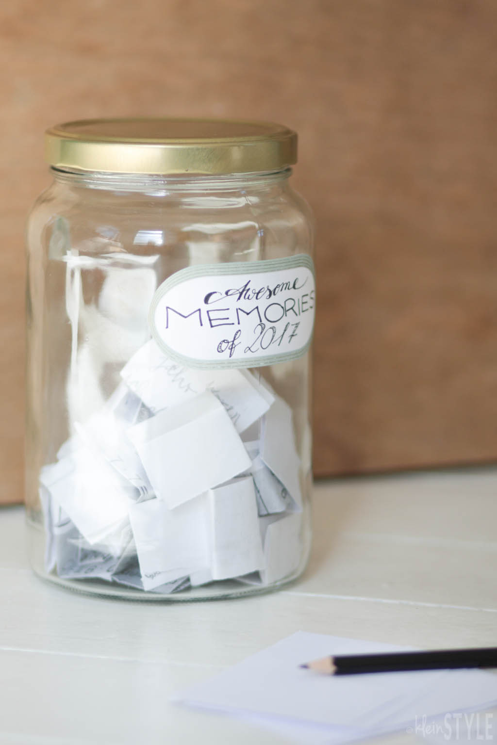 Familien Ritual Dankbarkeit Gluecksmomente Glas Awesome Memories Happy Moments jar by kleinstyle.com
