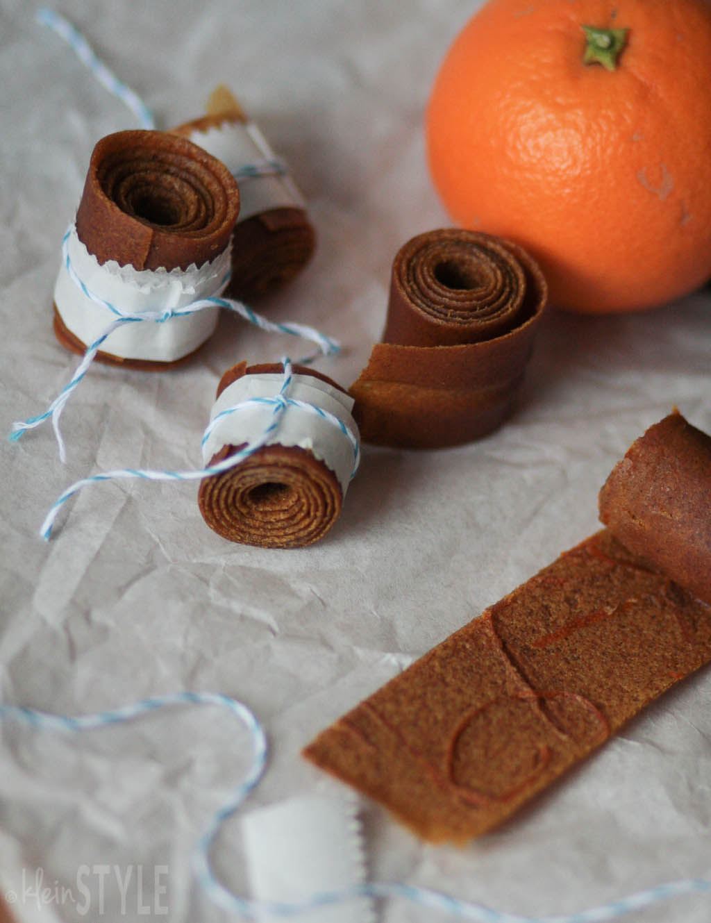 Paddingtons Orangen Fruit-Rolls Rezept by kleinSTYLE.com