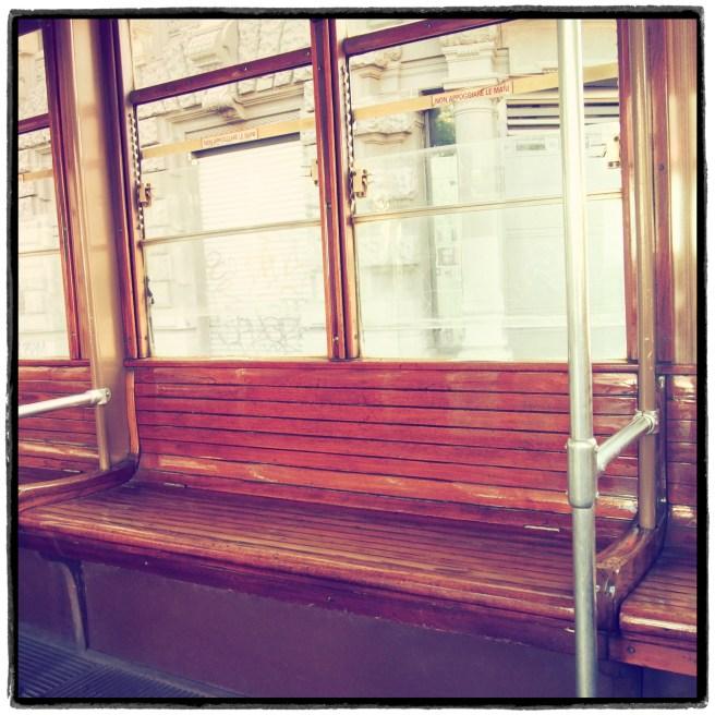 Straßenbahn aus Holz Mailand