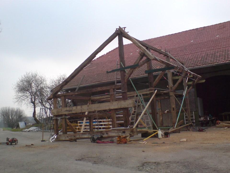 Fachwerkremiese aus Altholz