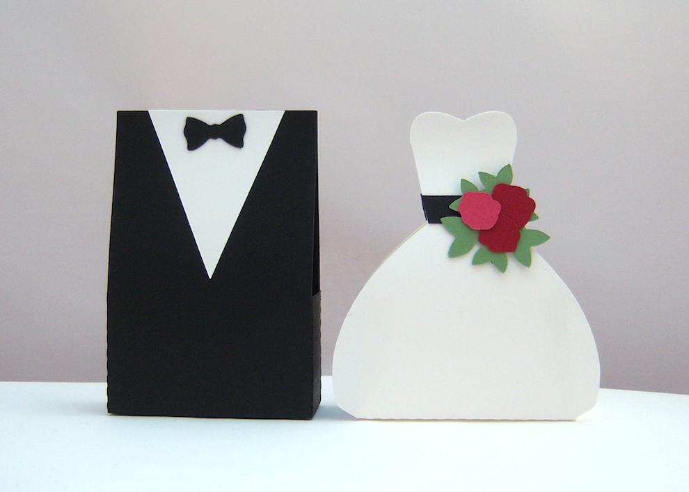 Brautpaar Bastelvorlage