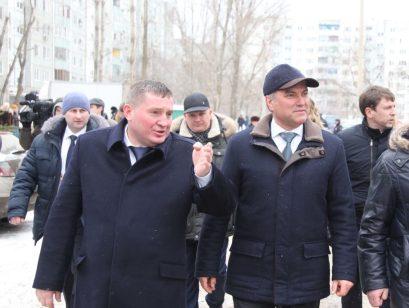 Председатель Государственной Думы РФ Вячеслав Володин и губернатор Андрей Бочаров