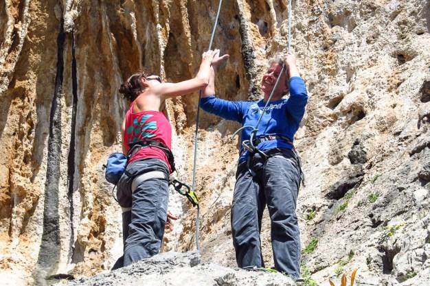 Kalymnos hand klettern