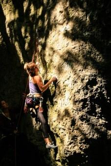 Fränkische klettern