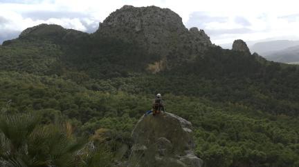 Blick vom Hauptmassiv El Chorro