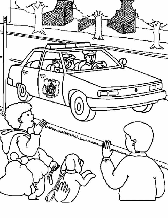 Kleurplaat Politiewagen
