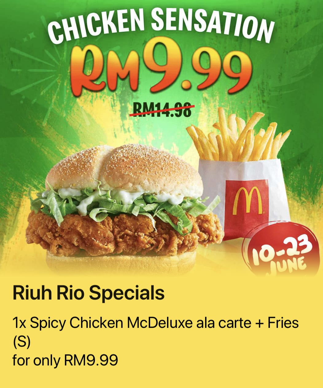 McDonald's RM9.99 deals