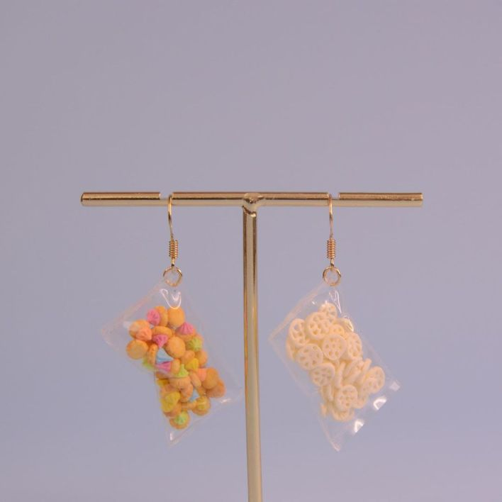 Realistic Childhood Biscuits Earring