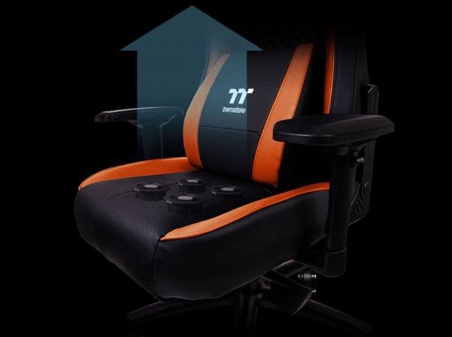 Thermaltake's new gaming chair has air cooling for your butt. Yes, really