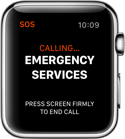 The SOS feature on Apple iPhone and Apple Watch trigger automatically