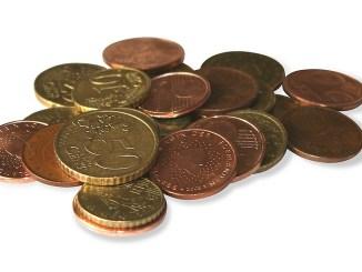 Mindestlohn, Euromünzen, Kleingeld