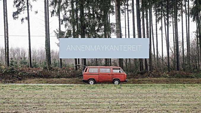 VW Bulli am Waldrand, Screenshot Annenmaykantereit.com