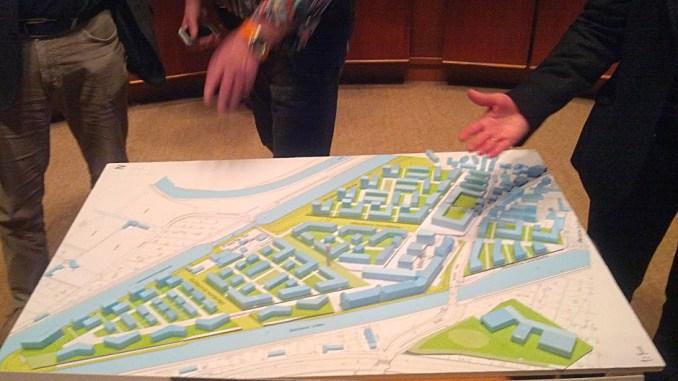 Modell der Wasserstadt Limmer, Februar 2014
