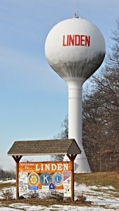 Wasserturm in Linden Michigan