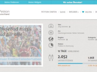 Bildschirmfoto Petition Fössebad über 2000 Unterschriften
