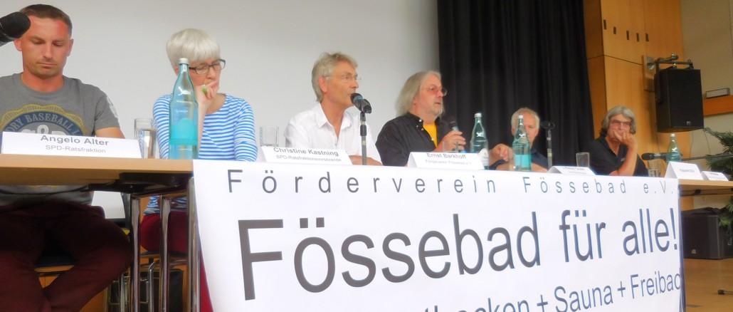 Podium FösseFREIbad Einwohnerversammlung 2017-06-10