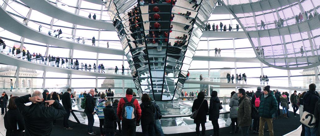 Berlin, Kuppel des Reichstages von innen