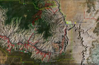 Grand Canyon Aerial With Land Use Overlay 12 10 12