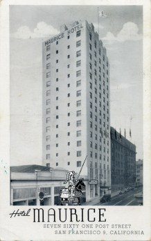 Hotel Maurice 761 Post Street San Francisco California Mailed 1945
