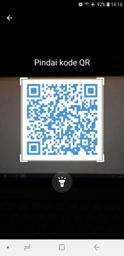 cara login telegram dengan qr code