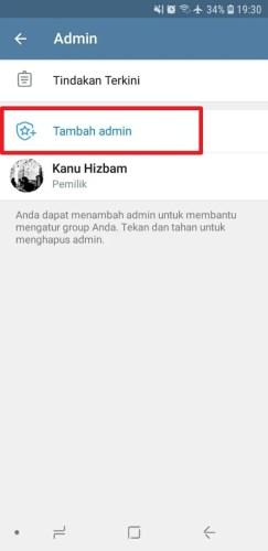 cara menambah admin grup telegram