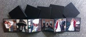 Accordionmapje zwart 10x10cm met 6 foto's