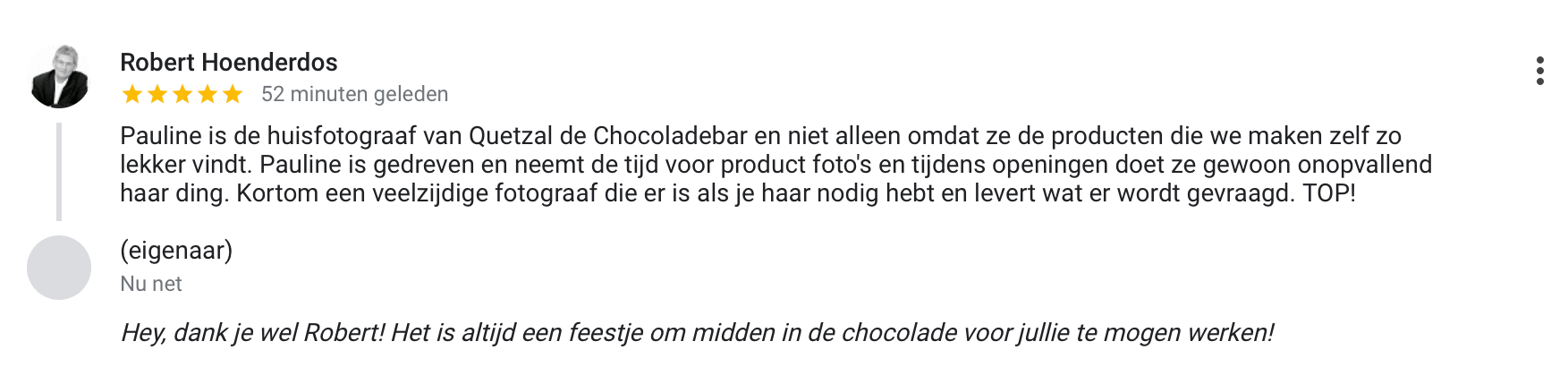 Review Klikklak door Robert
