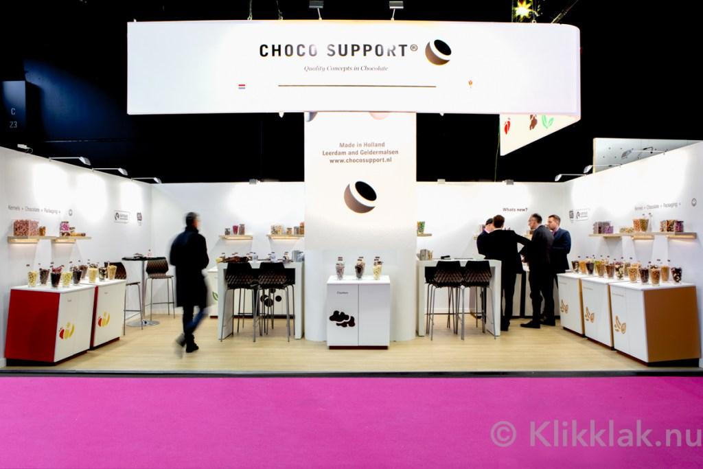 Stand van Chocosupport op de ISM 2019 in Köln. Gebouwd door Salut Expo.