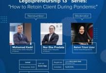 "Legalpreneurship 13th ""How to Retain Client During Pandemic"""