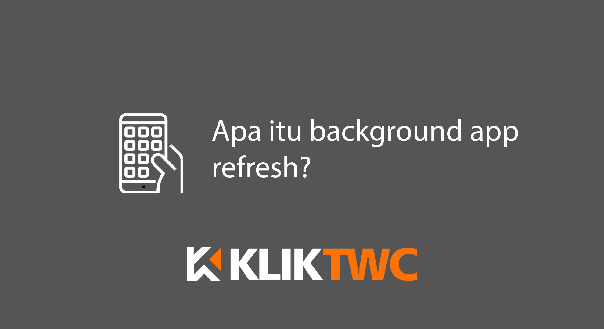 Apa itu background app refresh