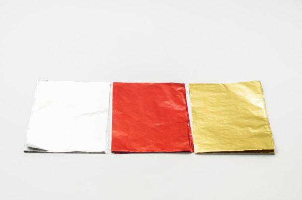 Φυλλαράκι Αλουμινίου Χρωματιστό 17.5x12.5 ΠΕΡ.100TEM