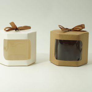 Κουτί Χάρτινο Εξάγωνο με Παράθυρο 10.5x10.5x10cm