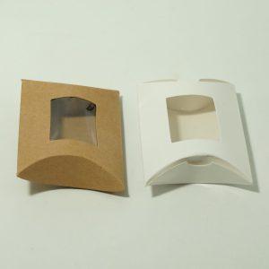 Χάρτινο Κουτί Μαξιλαράκι Με Παράθυρο 9×6.5cm