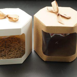 Κουτί Εξάγωνο με Παράθυρο 14x14x13