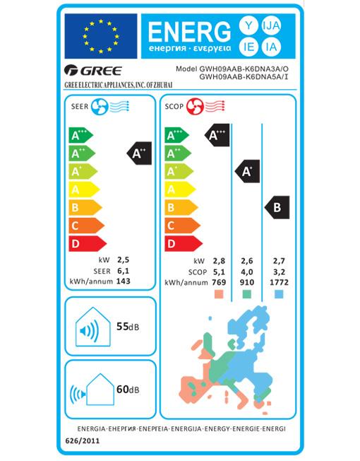 GREE Bora 25 inverter klima z montažo GWH09AAB-K6DNA3A