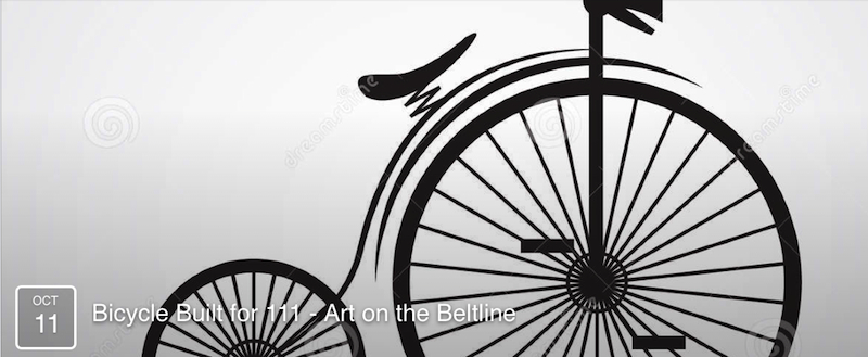A Bicycle Built for 111-Art on the Beltine