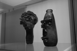 In the foreground - the sculpture of my head.