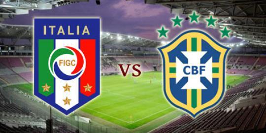 Preview: Italia vs Brasil, persahabatan nan krusial