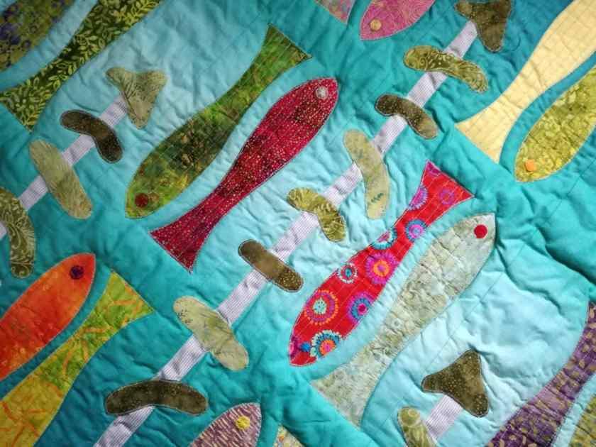 Tapis patchwork de poissons pour mes enfants