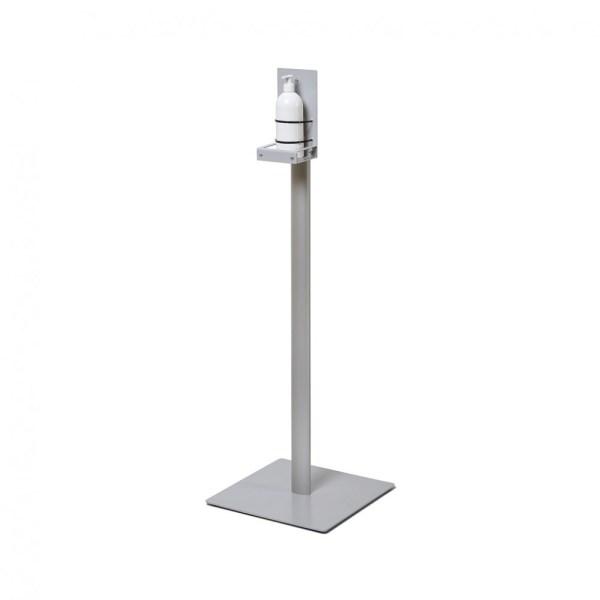 Paprastas rankų dezinfekcinis stovas skirtas laikyti rankų dezinfekcini skysti