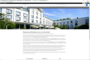 Startseite der neuen Homepage Klinik am See