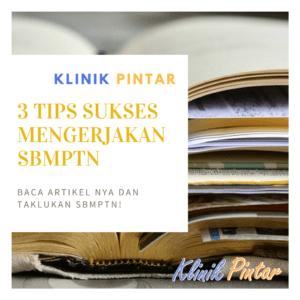 Tips Mengerjakan SBMPTN